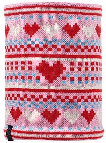 Buff Polar Foulard Multifonction Junior pour Enfant Knitted Polaire Taille Unique Rose - NAIA