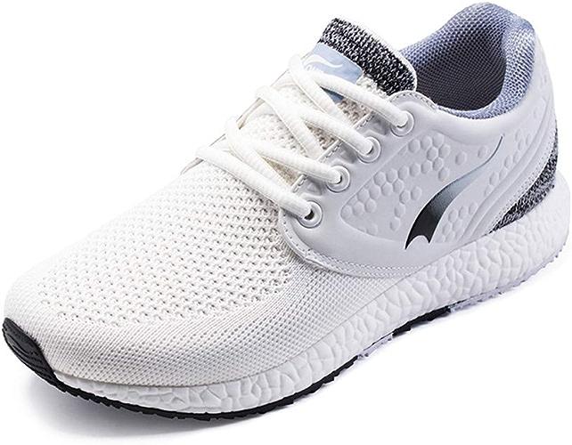 ONEMIX Chaussures de Sport élégantes pour Femme - - Blanc Noir, 36.5 EU