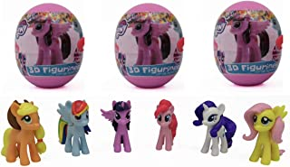 3 My Little Pony Surprise Eggs with Toy and Candy Inside. Exciting and Fun Toy By Bon Bon Buddies for Children As Seen in Unboxing and Unwrapping Videos on Youtube., Model: , Toys & Play
