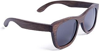 Ynport Crefreak Occhiali da sole polarizzati in legno di bambù per uomo donna – occhiali da sole fatti a mano con custodia