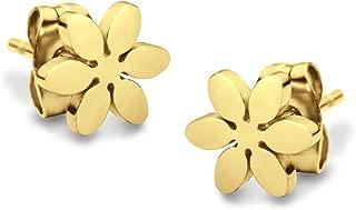 555Jewelry Delicate Small Tiny Daisy Flower Stud Earrings for Girls & Women