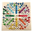 Hess Holzspielzeug 14849 - Brettspiel Raus mit Dir aus Holz für 8 Personen