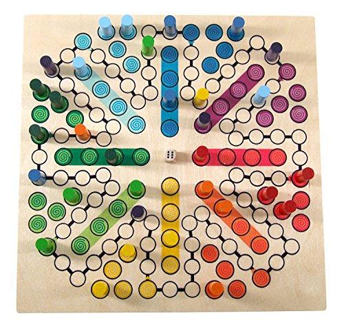 Hess houten speelgoed 14849 - bordspel uit hout voor 8 personen