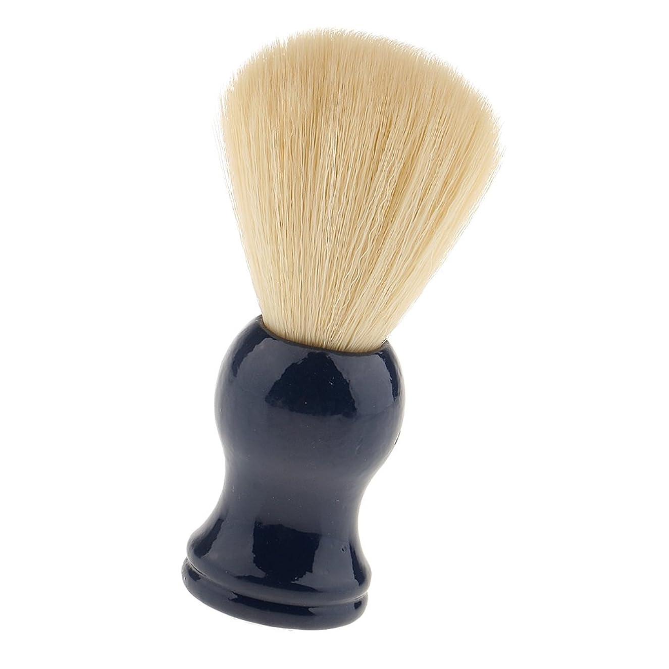 ガム接触弱い髭剃り ブラシ シェービングブラシ ひげブラシ サロン ナイロン毛 柔らかい 理容 便携