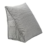 HALOViE Back Wedge Cushion 18.5/9.8/15.7 Inches Sofa Bed Office Chair Rest Cushion Back Support Throw Pillow (Gray)