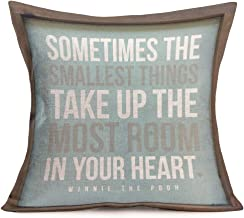 Smilyard Quotes Throw Pillow Covers Sometimes The Smallest Things Take Up The Most Room in Your Heart Decorative Pillowcase Cotton Linen Cushion Cover for Home 18x18 Inch (VQ07)