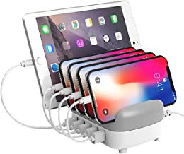 ORICO 5 Port USB Desktop Charging Station Multiple Devices Charger Hub for Smartphones, Tablets, and Many Other Compatible USB Powered Devices-White
