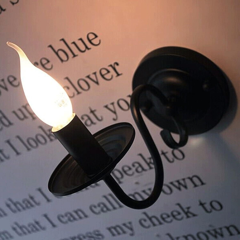 ZYN Eisen Kunst Wandlampe - Schlafzimmer Spiegel Licht Nachttischlampe Bar Cafe Wandleuchte ZYNSF (Farbe   SCHWARZ)