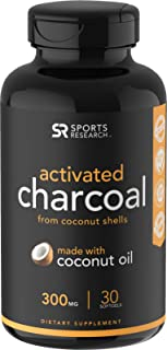 Coconut Activated Charcoal Infused with Organic Coconut Oil | Fast detoxing for Better Digestion | Non-GMO & Gluten Free (30 Mess-Free softgels)