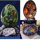 3PCS Lava Dragon Egg, Dream Crystal Resin Transparent Dragon Egg, Exquisite and Unique Hand-Sculpted Fire-Bag Dragon Souvenir Desktop Ornaments, Gifts
