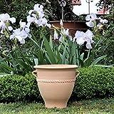 Kreta Pot de fleurs en céramique fait main en terre cuite véritable Résiste au gel Différentes tailles 30-80 cm 34 cm
