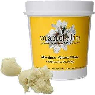 Mandelin Marzipan Modeling Paste, 33% Almonds, 67% Sugar (1 lb/16 oz)