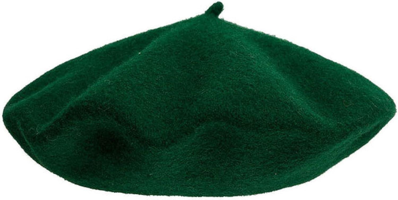 ASO-SLING Women Christmas Red Green Beret Hats Wool Girls Hat Xmas Gift Solid Color Hats Bonnet Cap Octagonal Cap