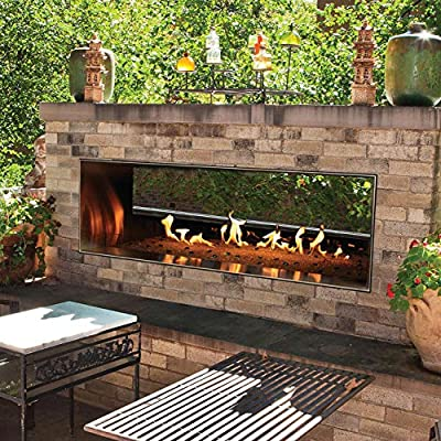 """Empire Comfort Systems Carol Rose Outdoor SS See-through 48"""" Linear Fireplace - NG"""