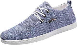 Zeilschoenen voor heren, veterschoenen, veterschoenen, canvas, sneakers, ademend, vrijetijdsschoenen, wandelschoenen