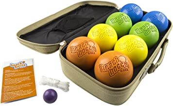 SeaTurtle Sports Luxury Beach Bocce Ball Crack and Rust Proof Set