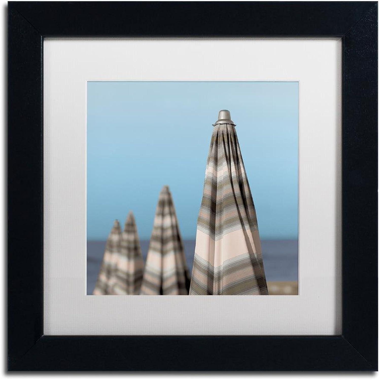 Trademark Fine Art Grossetto Parasol IV by Alan bluestein, White Matte, Black Frame 11x11