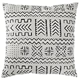 Amazon Brand – Rivet Mudcloth-Inspired Decorative Throw Pillow, 17'...