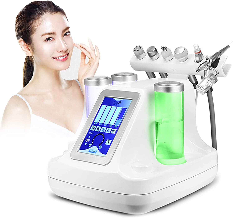 ZFAZF oxígeno Agua Hydra Facial Machine, Máquina Microdermoabrasión Limpieza Facial Profunda Espinillas Poros 6 en 1, Máquina Belleza Facial Profesional para Salón Belleza en Casa