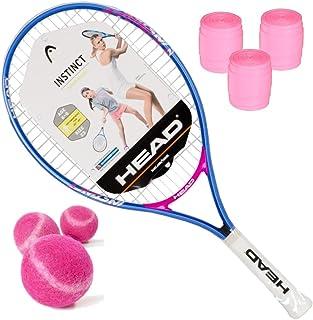 HEAD Instinct Junior Girls Tennis Racquet Kit or Set Bundled with Pink Tennis Balls and Pink
