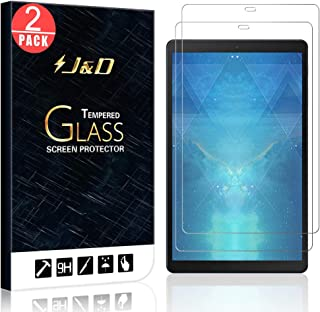 J&D Compatible for 2-Pack Galaxy Tab A 10.1 Glass Screen Protector, [Tempered Glass] [Not Full Coverage] Glass Screen Protector for Samsung Galaxy Tab A 10.1 2019 - [Not for Galaxy Tab A 10.1 2016]