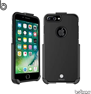 BELTRON Case with Belt Clip for iPhone 8 Plus, iPhone 7 Plus, Slim Full Protection Heavy Duty Hybrid Case & Rotating Belt Clip Holster with Built in Kickstand for iPhone 7/8 Plus (Gunmetal Grey)