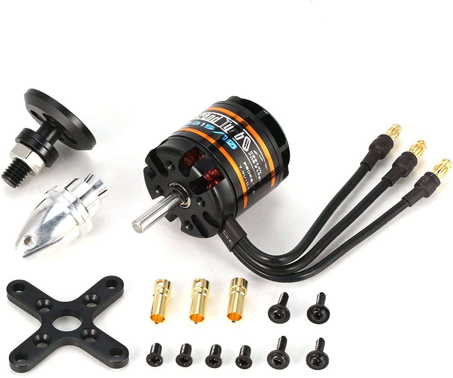 Tivolii for EMAX GT2215 10 1100KV 2-3S Lightweight Power Brushless Motor for RC Fixed Wing Airplane Drone Quadcopter Spare Parts