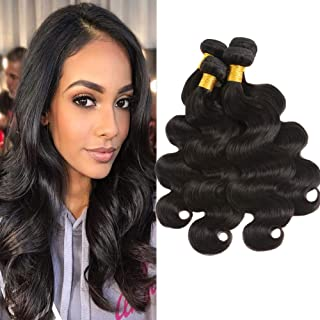 Huarisi Brazilian Hair 4 Bundles Body Wave Human Hair 12 14 16 18 Inches Braziliaans Haar Weave Thick Echt Menselijk Haar ...