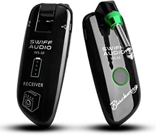 SWIFF High-Grade Electronic Guitar Wireless System Rechargeable Guitar Transmitter Receiver Support Multi Channels and 5.5 Hours Long Battery Life for All Electric Musical Instruments