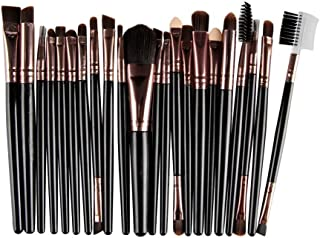 Boomboom 22 Pcs/Set Makeup Brushes Tools Toiletry Kit Wool Cosmetic Brushes (Black)