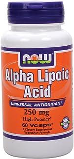 Now Foods Alpha Lipoic Acid 250 mg - 60 Vcaps 8 Pack