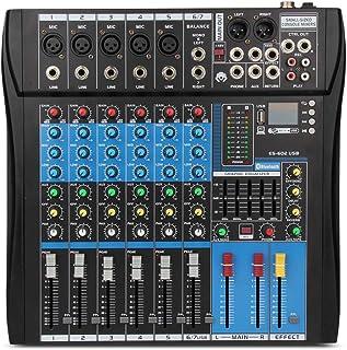 XTUGA Professional Audio Mixer Sound Board Console ES602 USB/MP3/Bluetooth Stage Audio Mixer Built-in Digital Effect Mixer...