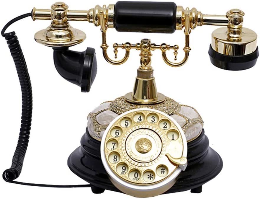 Resin Imitation Copper Retro Old Telephone Dial Fashioned Portland Directly managed store Mall Rotary