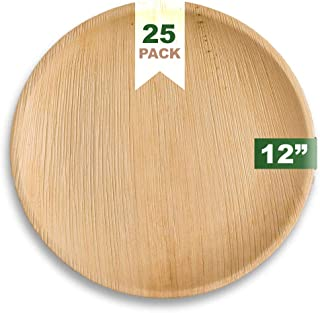 Ecozoi EXTRA LARGE Disposable Palm Leaf Plates 12