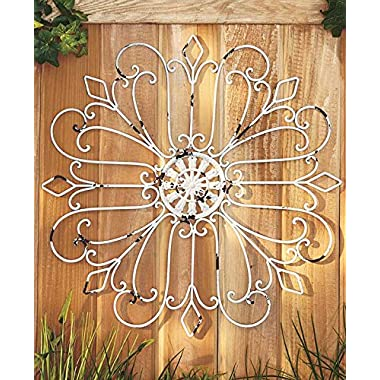 Iron Wall Medallion (Antique White)