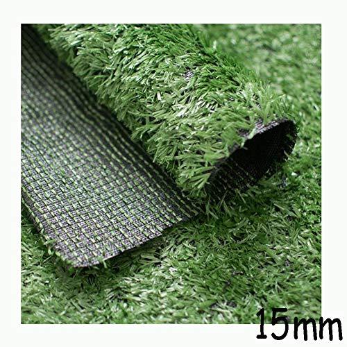 15 mm Stapel-Höhe künstlicher Rasen (2 Meter) Breite Encryption Thick Green Garden Balkon Hochzeit Pflasterung Kunstrasen YNFNGXU (Size : 2x3m)