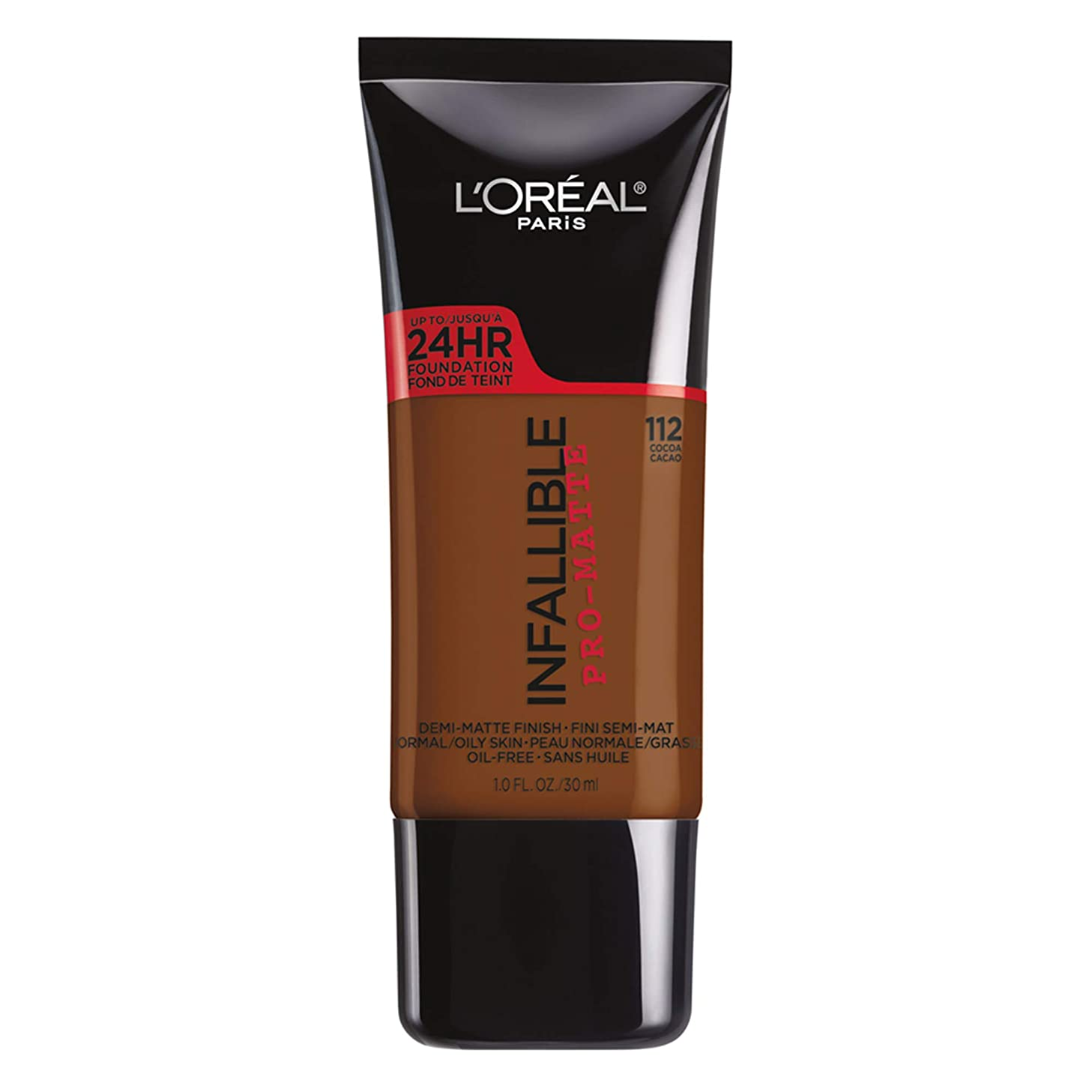 ポスト印象派ミルク虫L'Oreal Paris Infallible Pro-Matte Foundation Makeup, 112 Cocoa, 1 fl. oz[並行輸入品]