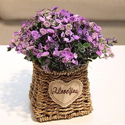 ZJJJH Kunstmatige decoratieve bloemen Tuindecoratie spoorper van de kunstmatige bloem van de landelijke kunst XCZHJ-bloemenproducten omvat: kunstbloemen & planten, bloemen, planten, bloemendecoratie, struisjes & kransen.
