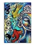 Buddha Art Koi-Fisch Leinwand Lotus Wandkunst Bild Druck
