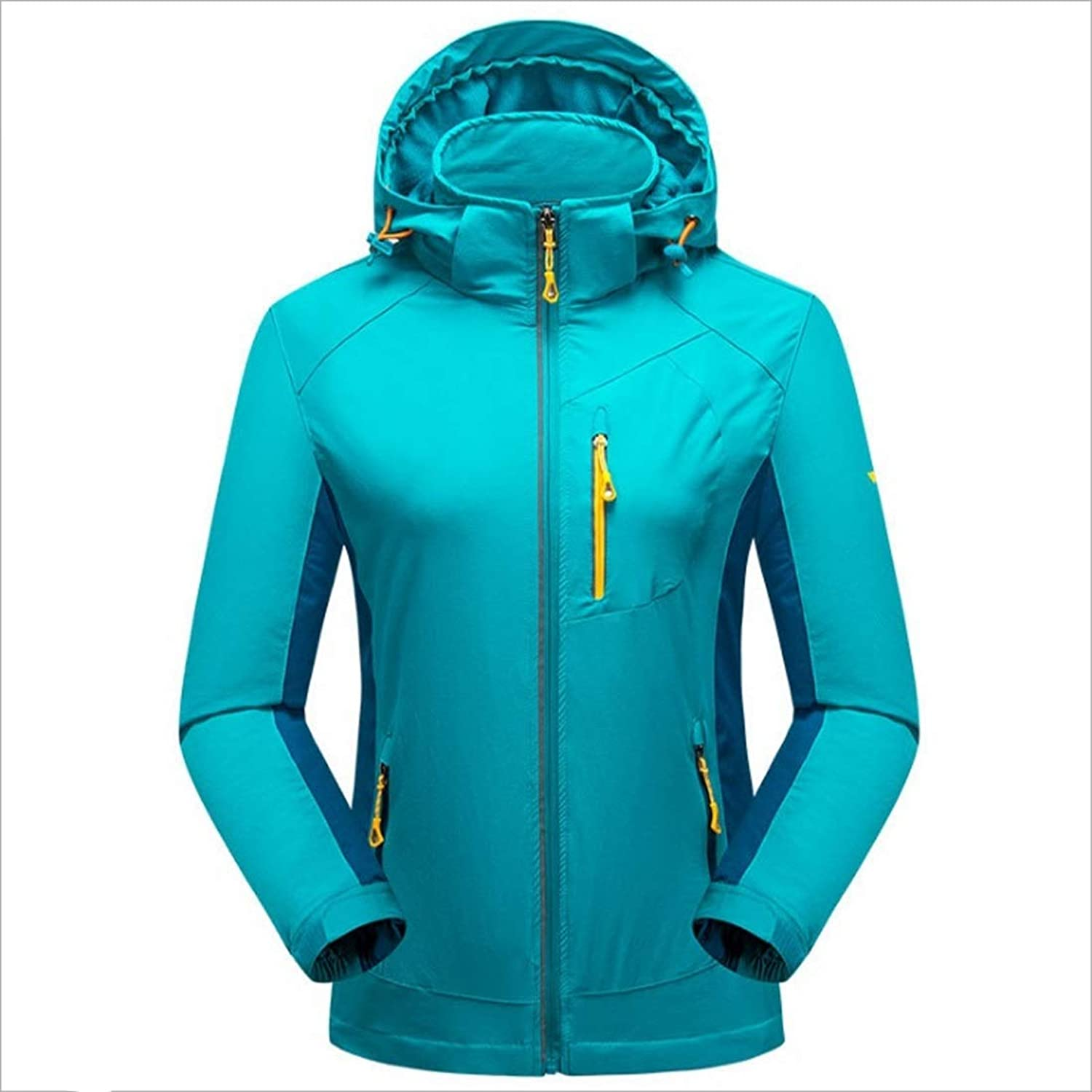 CEFULTY Women's SingleLayered Jacket Elastic Breathable Mountaineering Jacket Thin Waterproof Jacket (color   02, Size   L)
