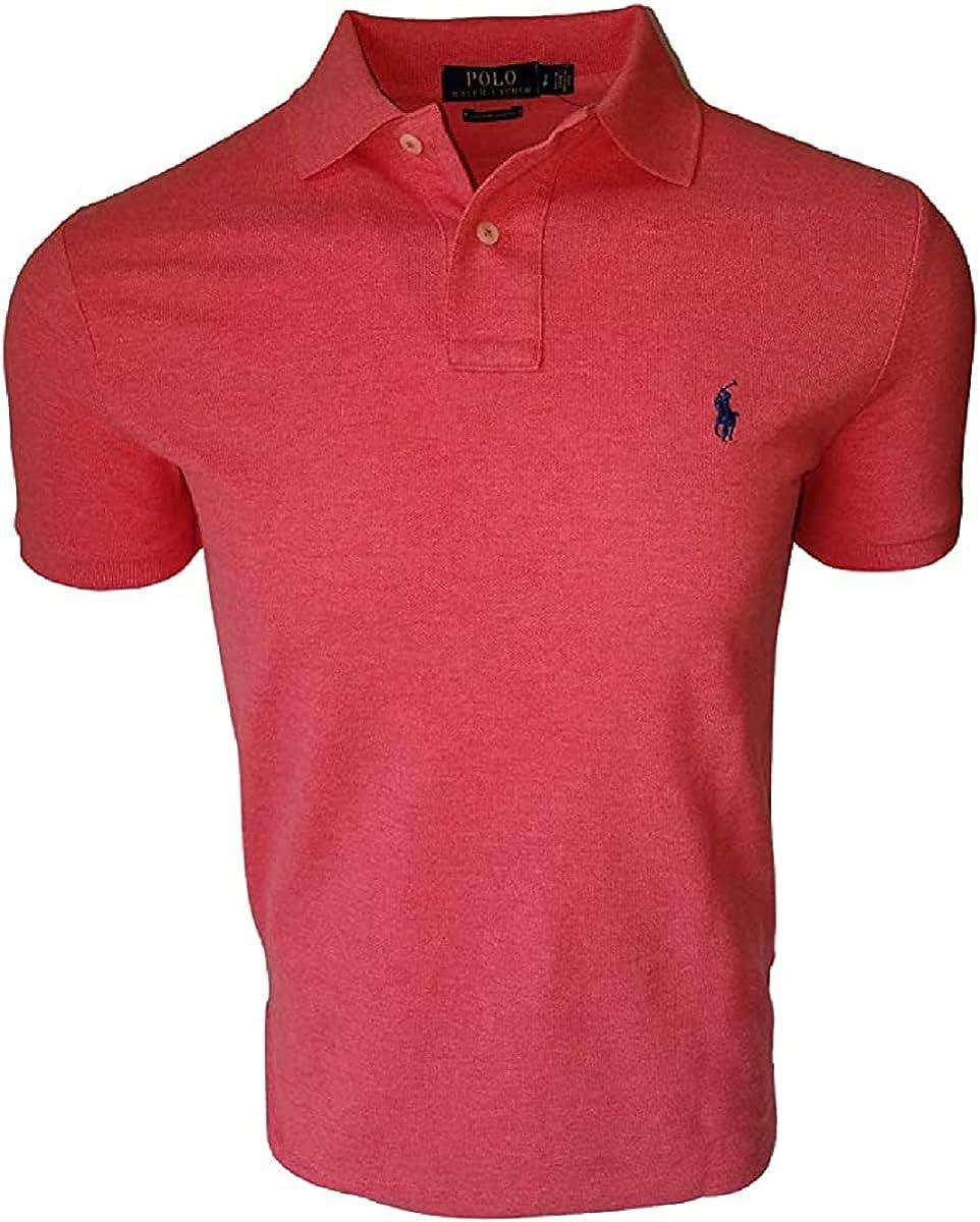 Polo RL Men's Slim-Fit Cotton Mesh Polo Shirt