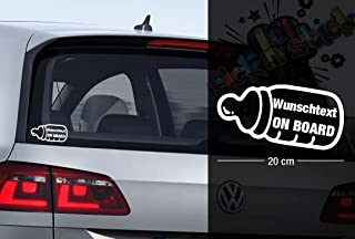 Autoaufkleber wirtschaftlich und robust Aufkleber einfach anzubringen Oedim Baby on Board Globo schwarz 20 x 20 cm