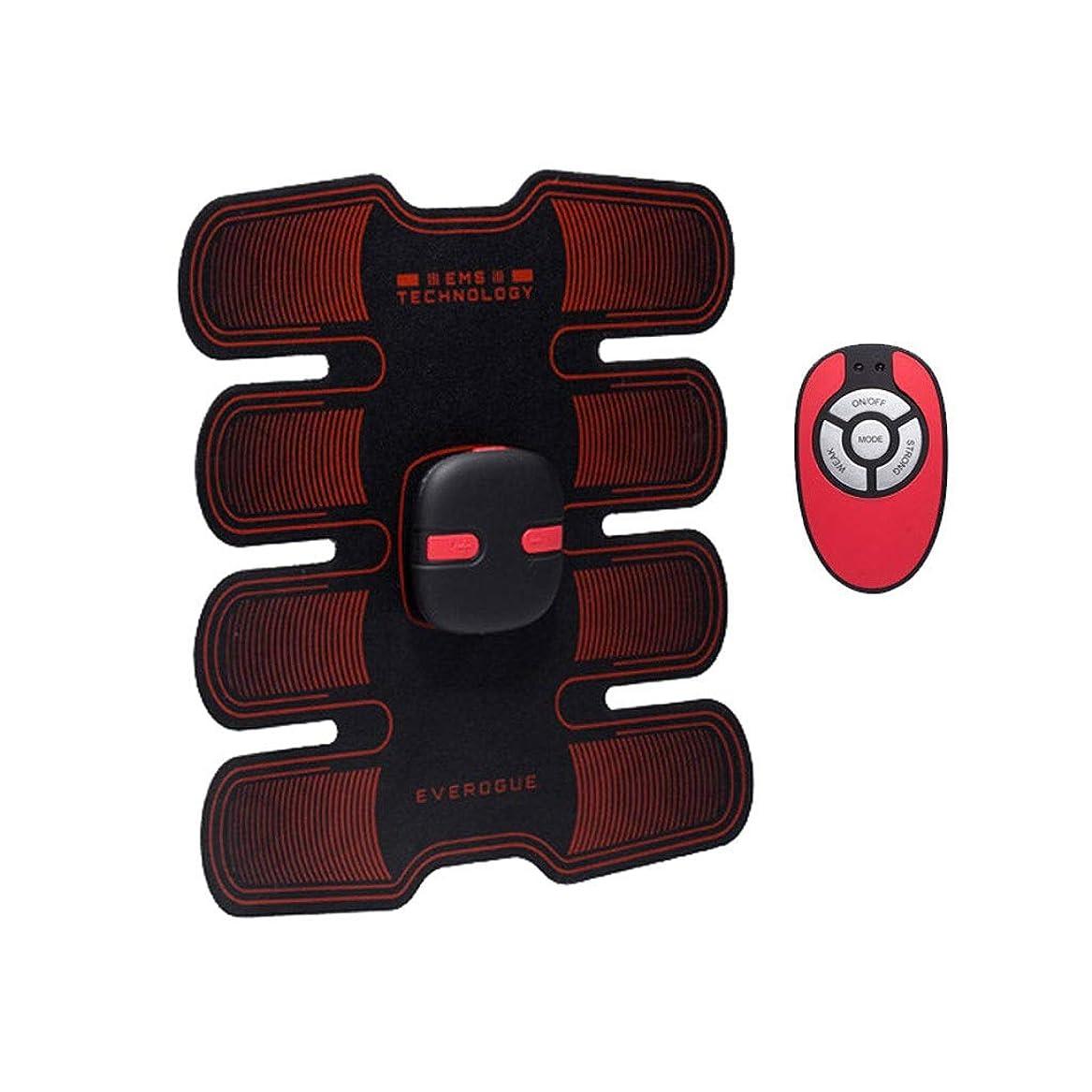 征服将来の株式フィットネストレーニングギア、リモコン付きEMS筋肉刺激装置USB充電式究極の腹部刺激装置 - 男性用女性用筋肉トナー (Size : A)