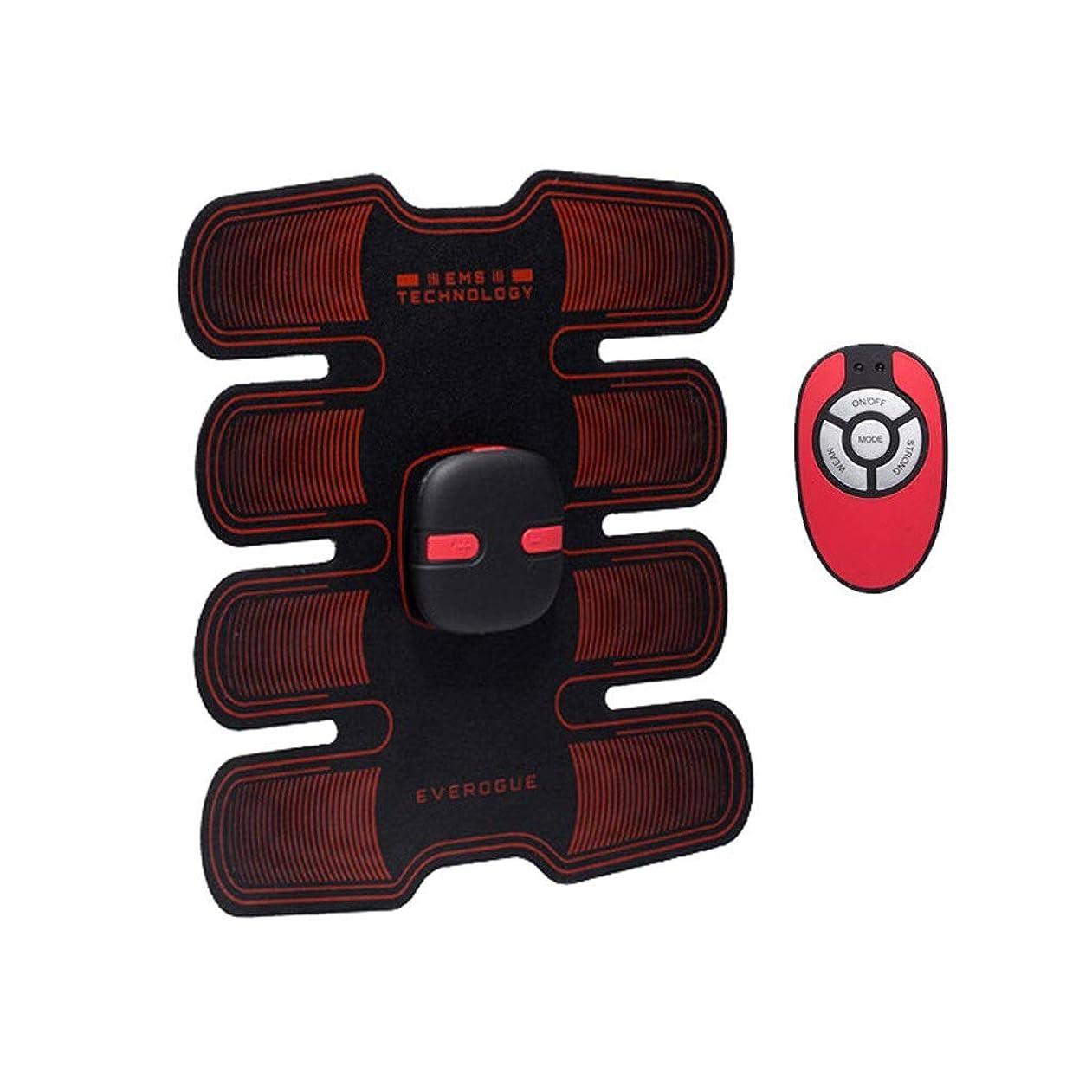 毒小麦補助フィットネストレーニングギア、リモコン付きEMS筋肉刺激装置USB充電式究極の腹部刺激装置 - 男性用女性用筋肉トナー (Size : A)