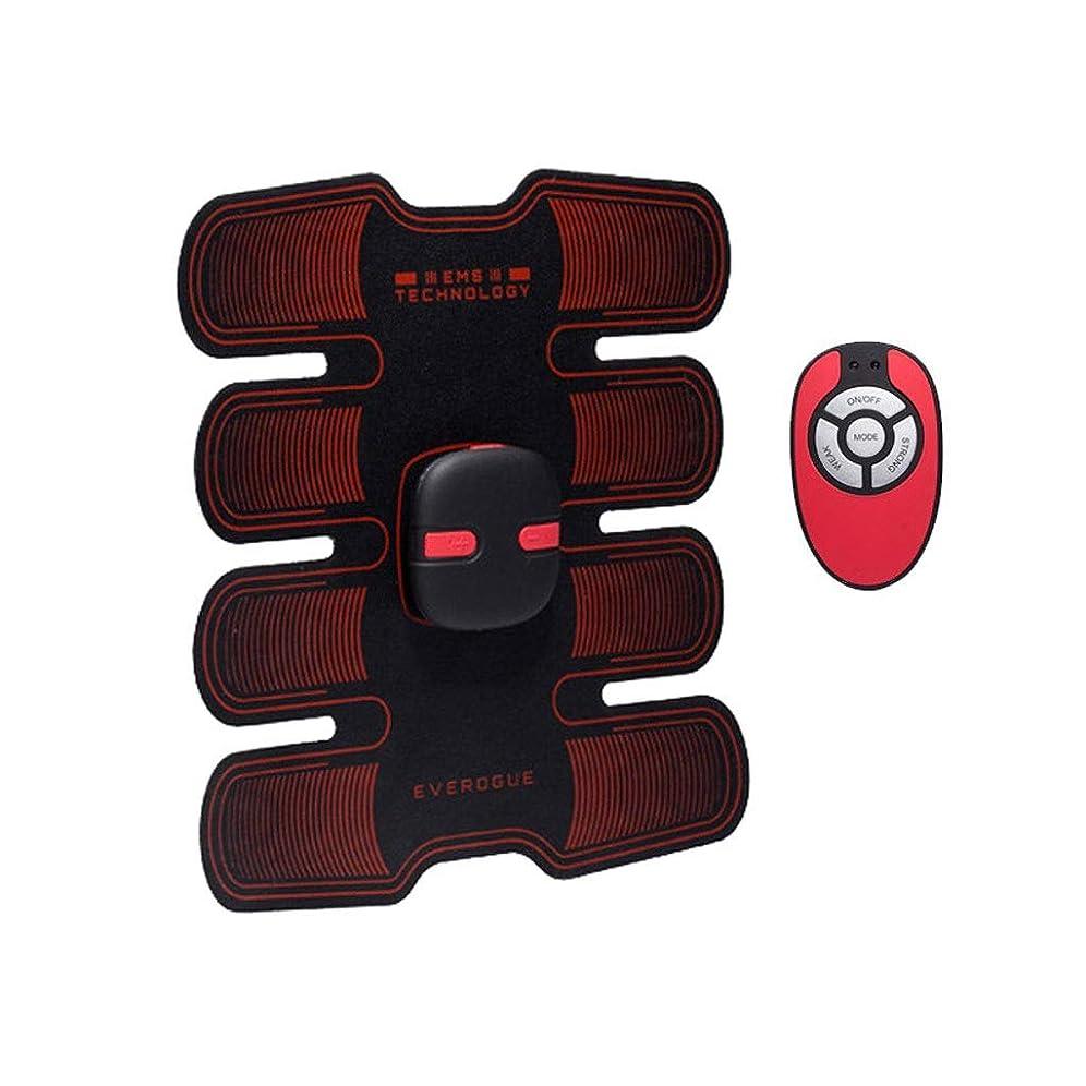 演劇免除バッグフィットネストレーニングギア、リモコン付きEMS筋肉刺激装置USB充電式究極の腹部刺激装置 - 男性用女性用筋肉トナー (Size : A)