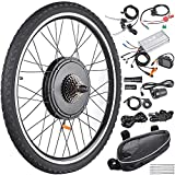 AW 26'x1.75' Rear Wheel Electric Bicycle LCD Display Motor Kit E-Bike Conversion 48V1000W