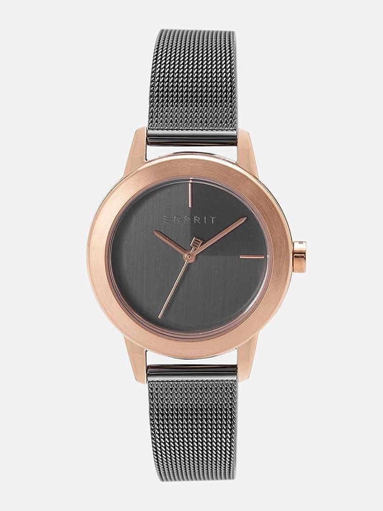 Esprit, orologio da donna bloom, in acciaio inox placcato oro ES1L105M0105