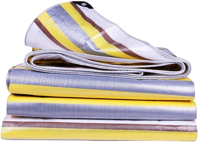 Plane YNN Outdoor Shade Cloth Regendichtstoff Isolierte Wasserdichte Sonnenschutzplanen Dicke Leinwand, 210g   m² - 0,38 mm (Farbe   Silber, größe   10  10m) B07KB5F2NB  Qualität und Verbraucher an erster Stelle