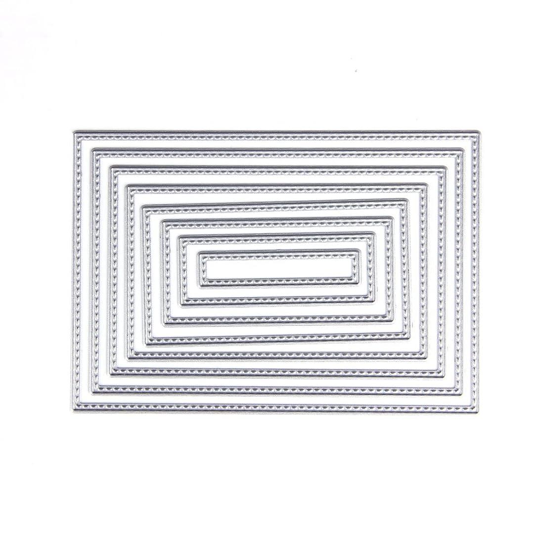 Hunulu 8pcs Rectangle Cutting Dies Stencil DIY Scrapbooking Album Card Embossing Craft