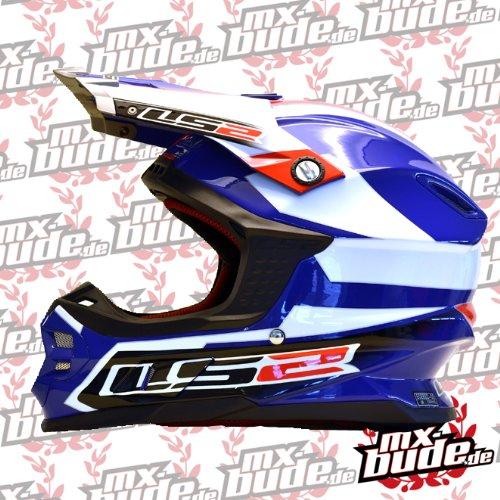 LS2 MX456 Tuareg Casco di motocross Bianco/Blu